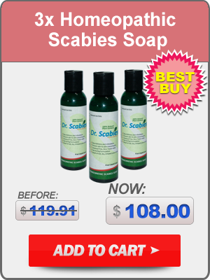 Dr. Scabies®: 3 x Homeopathic Scabies Soap